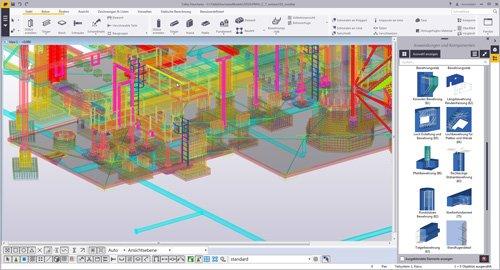 1. Produktbild Tekla Structures für Ortbeton, Betonfertigteile, Schalung u. Bewehrung