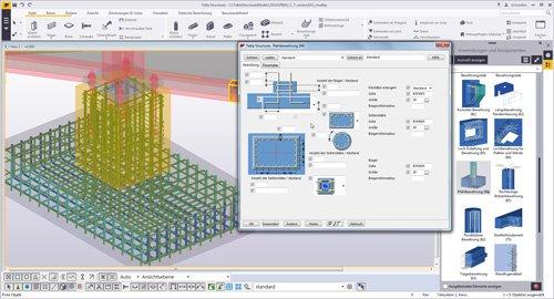 2. Produktbild Tekla Structures für Ortbeton, Betonfertigteile, Schalung u. Bewehrung