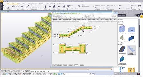 3. Produktbild Tekla Structures für Ortbeton, Betonfertigteile, Schalung u. Bewehrung