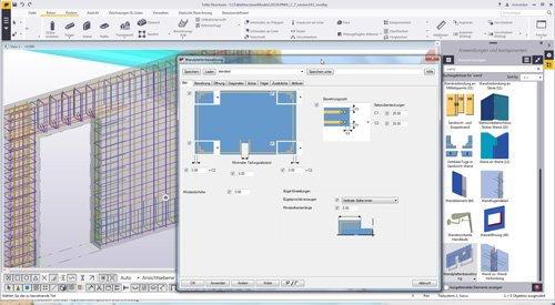 4. Produktbild Tekla Structures für Ortbeton, Betonfertigteile, Schalung u. Bewehrung