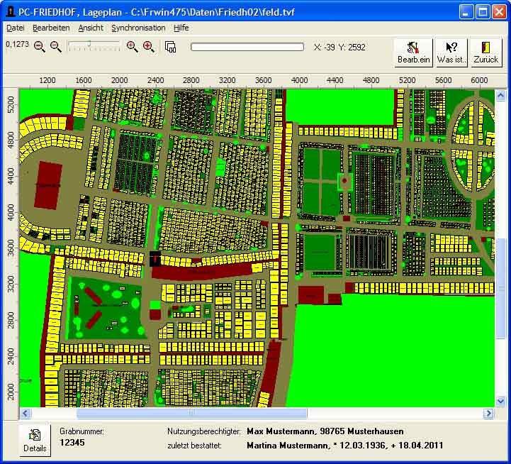 5. Produktbild  PC-FRIEDHOF Software zur Friedhofsverwaltung