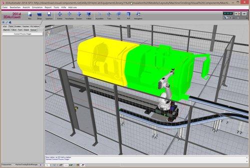 1. Produktbild 3D Simulation mit 3D Create von Visual Components