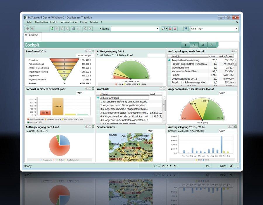 1. Produktbild PiSA sales CRM