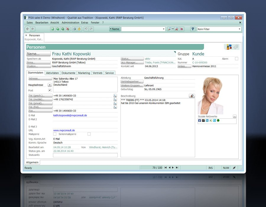 3. Produktbild PiSA sales CRM