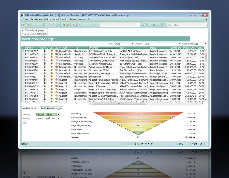 4. Produktbild PiSA sales CRM