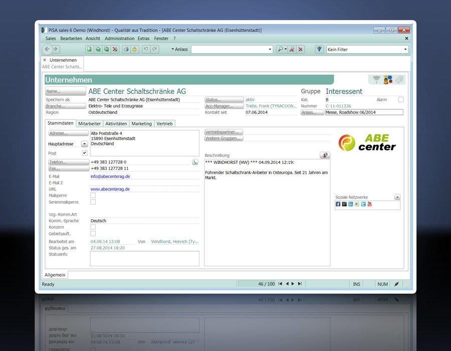 6. Produktbild PiSA sales CRM