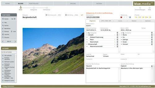 blue.media 3 - Das Bildarchivsystem für Fotografen und Bildagenturen