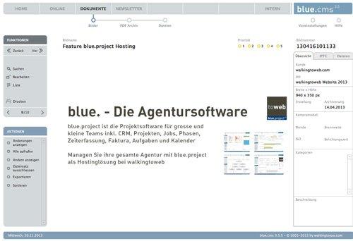 1. Produktbild blue.cms - Die CMS Lösung