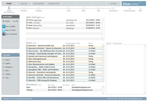 2. Produktbild blue.cms - Die CMS Lösung