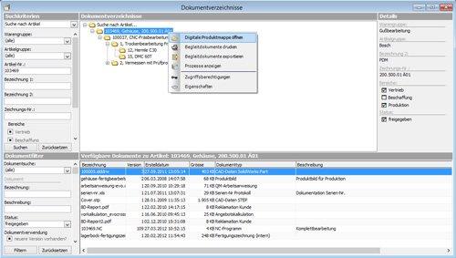 1. Produktbild CAMback - CNC-Datenverwaltung / CNC-Daten�bertragung (DNC)