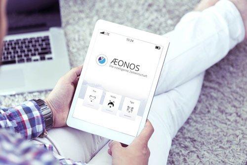 4. Produktbild AEONOS - Die intelligente Zeitwirtschaft