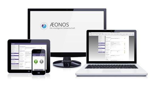 6. Produktbild AEONOS - Die intelligente Zeitwirtschaft