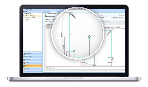 1. Produktbild SOM-GLAS - Software f�r Glaser und Glashandel