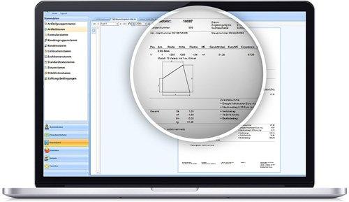 3. Produktbild SOM-GLAS - Software f�r Glaser und Glashandel
