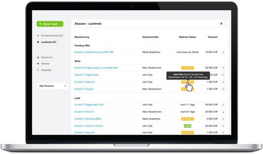 5. Produktbild MOCO Cloud-Software f�r Agenturen und Dienstleister