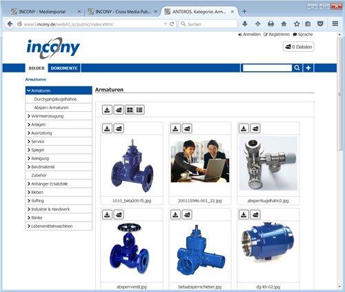 2. Produktbild ANTEROS - PIM-Software, Crossmedia, MAM