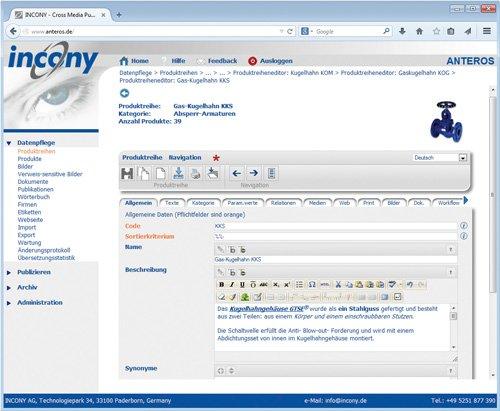 3. Produktbild ANTEROS - PIM-Software, Crossmedia, MAM