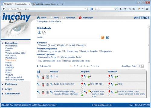 4. Produktbild ANTEROS - PIM-Software, Crossmedia, MAM