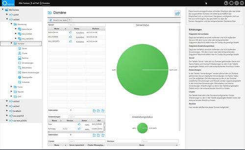 3. Produktbild quasiAdmin - effiziente Administration der Oracle Datenbank+Middleware