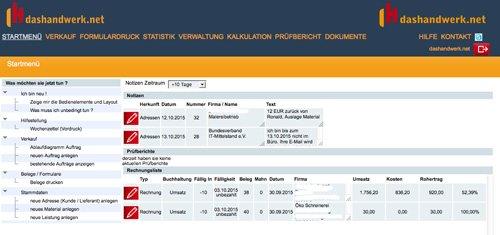 1. Produktbild dashandwerk.net - kaufmännische Handwerkersoftware