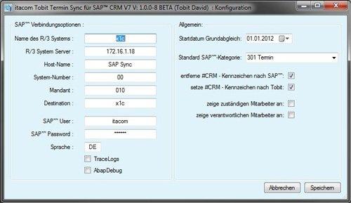 1. Produktbild itacom Tobit Termin Synchronisation f�r SAP� CRM V7