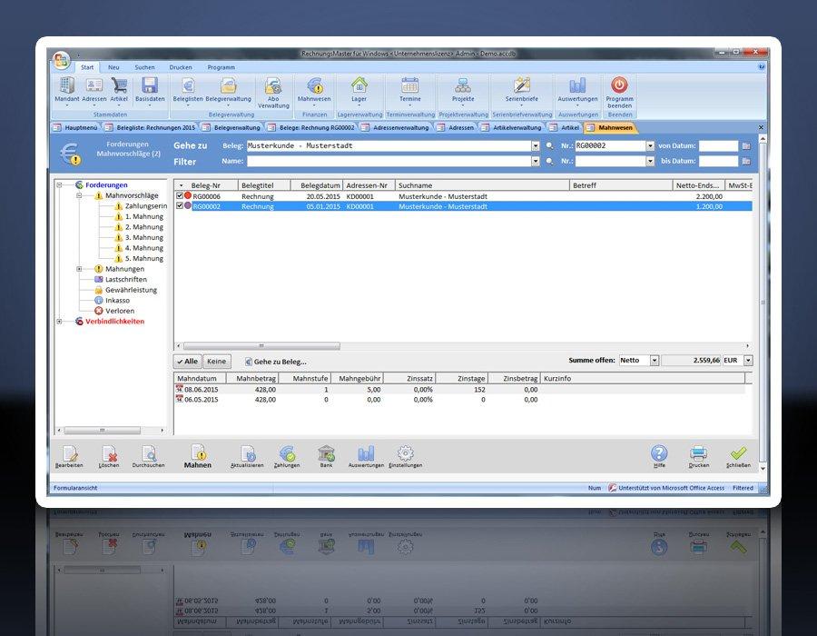 9. Produktbild Rechnungsprogramm RechnungsMaster f�r Windows