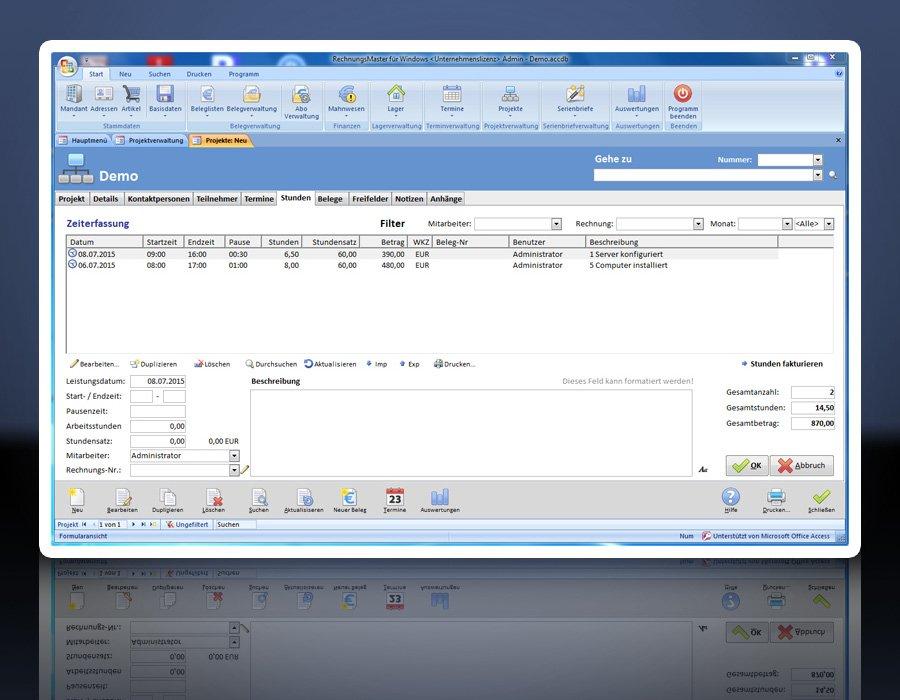 11. Produktbild Rechnungsprogramm RechnungsMaster f�r Windows