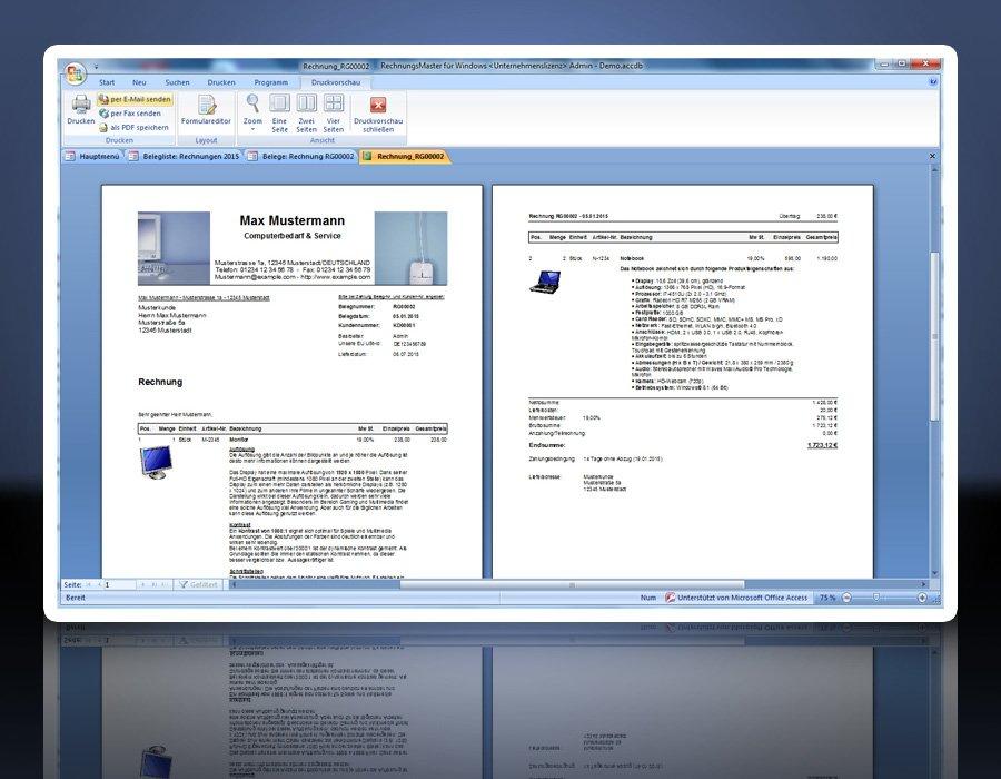13. Produktbild Rechnungsprogramm RechnungsMaster f�r Windows