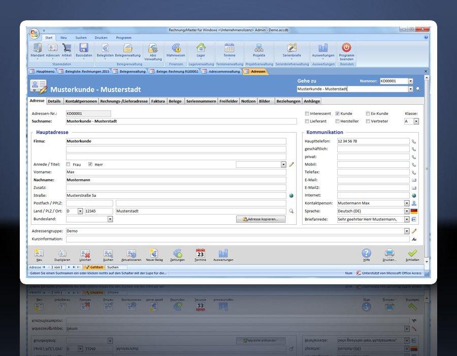2. Produktbild Rechnungsprogramm RechnungsMaster für Windows