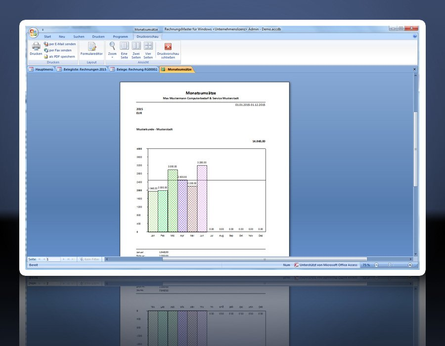6. Produktbild Rechnungsprogramm RechnungsMaster f�r Windows