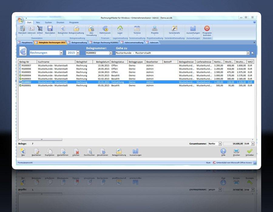 7. Produktbild Rechnungsprogramm RechnungsMaster f�r Windows