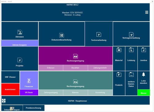 1. Produktbild HAPAK - Auftragsbearbeitungs-Software für Handwerker