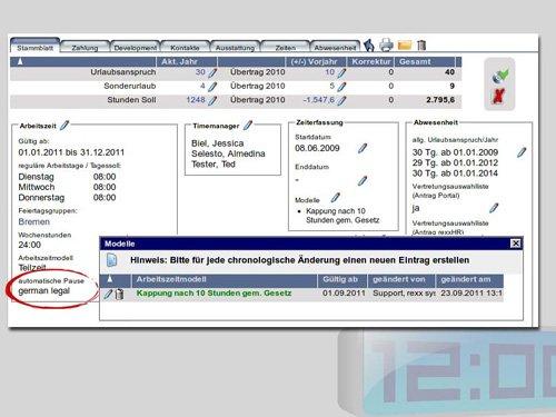 3. Produktbild rexx HR Zeiterfassung
