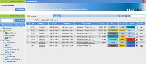 2. Produktbild FILEBOX - Daten�bertragungssoftware f�r Agenturen und Verlage