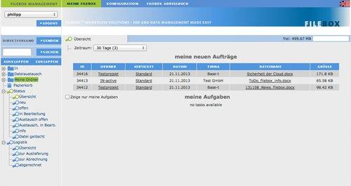 1. Produktbild FILEBOX - Daten�bertragungssoftware f�r Agenturen und Verlage