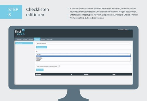 12. Produktbild firstaudit - Digitale Checklisten App