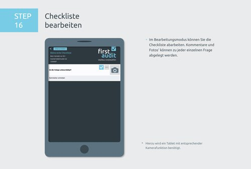 22. Produktbild firstaudit - Digitale Checklisten App