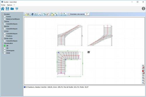 metalcad erstellen von treppen und gel nder treppensoftware gel nderbau treppenkonstruktion. Black Bedroom Furniture Sets. Home Design Ideas