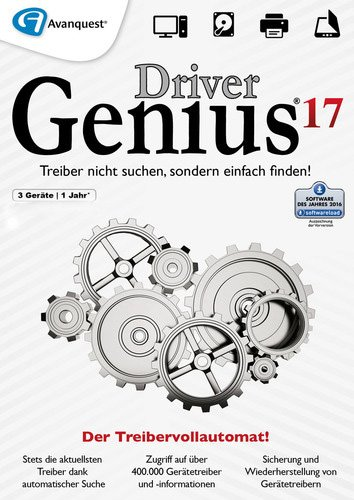 1. Produktbild Driver Genius 17 - 3 PCs / 1 Jahr