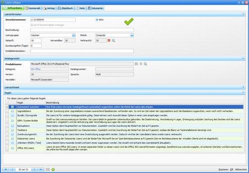 7. Produktbild Asset.Desk - Lizenzen pflegen
