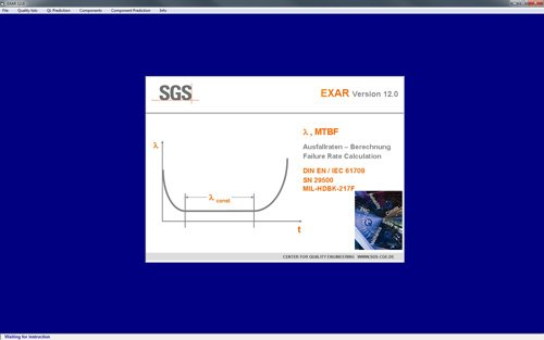 1. Produktbild EXAR - zur Berechnung der MTBF von elektronischen Geräten