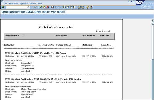 1. Produktbild Optimierte R�ckmeldung in SAP PM