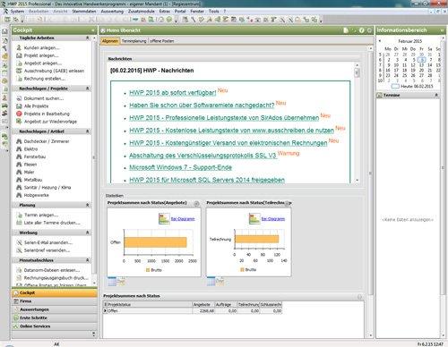 1. Produktbild Sage 50 Handwerk - Handwerkersoftware