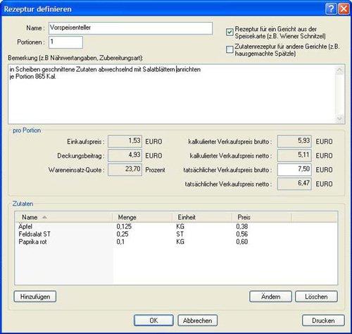 5. Produktbild GastroCalc - Gastromiesoftware