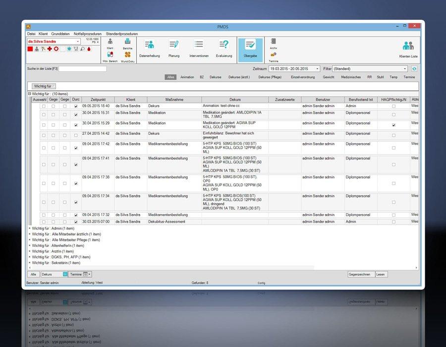 8. Produktbild PMDS - Pflege-Management und Dokumentationssystem