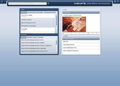 1. Produktbild Haufe HGB Bilanz-Kommentar Onlin