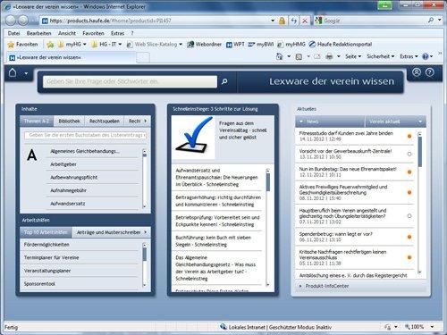 1. Produktbild Lexware der verein wissen online