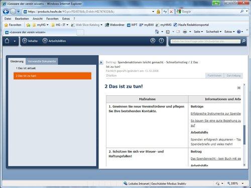 3. Produktbild Lexware der verein wissen online