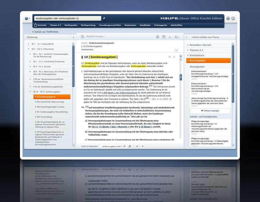 2. Produktbild Haufe Steuer Office Kanzlei-Edition