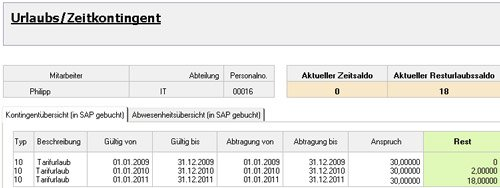 "5. Produktbild Zeitwirtschaft für Lotus Notes SAP HR ""Out of Office"""